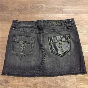 Guess Black denim mini skirt